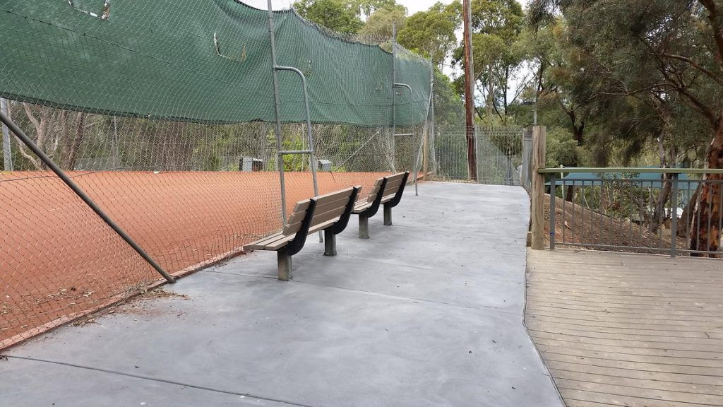 The completed area at the end of court 1. Concreting by Sardi Concrete Constructions.