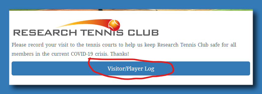 RTC Visitor Log button